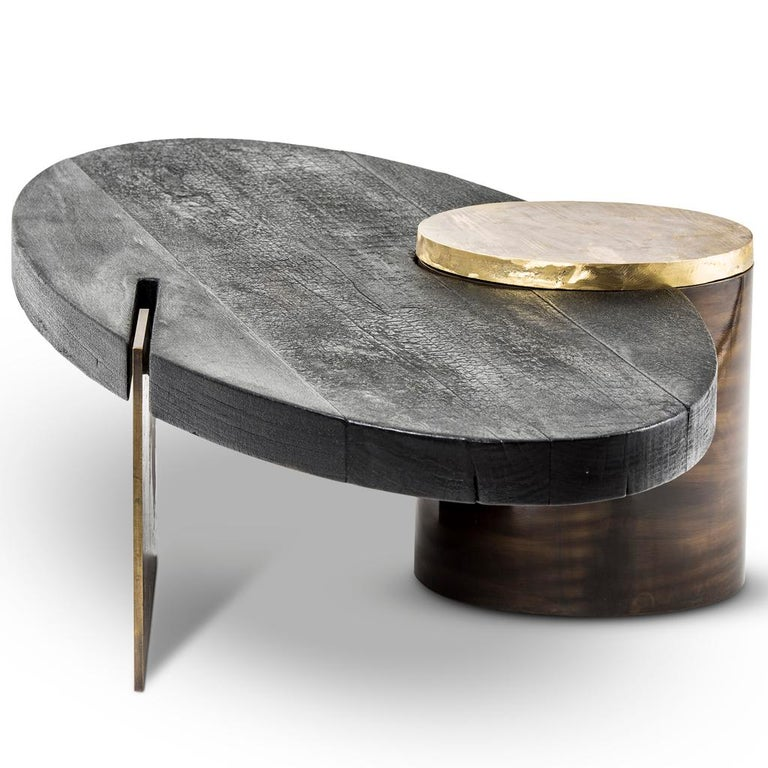 The primal coffee table is part of the Primal collection designed by Egg Designs and manufactured in South Africa. This high end, contemporary and bespoke coffee table is evidence of Egg's unique and exploratory approach to materials. The tabletop