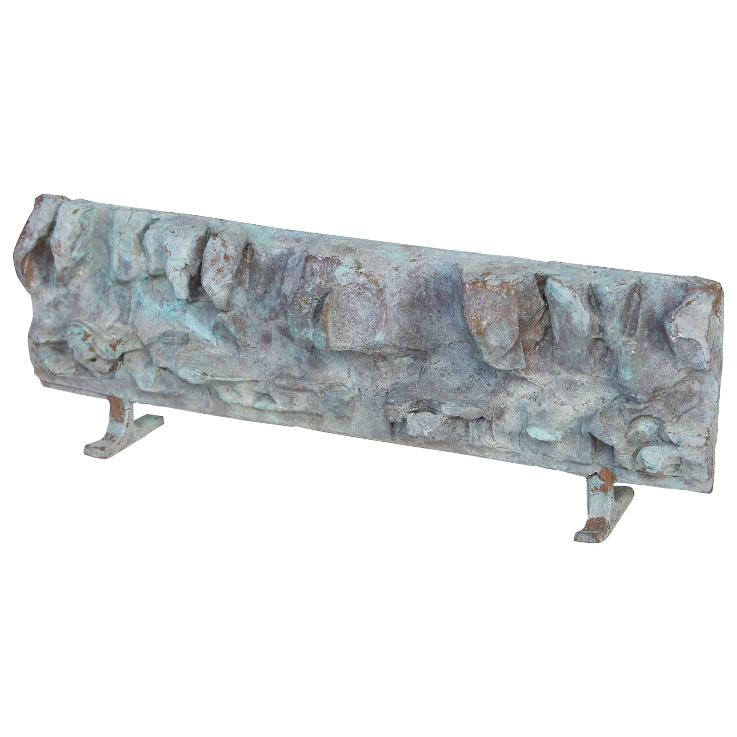 Cast Bronze Abstract Brutalist Sculpture