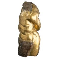 Cast Bronze Abstract Torso Sculpture