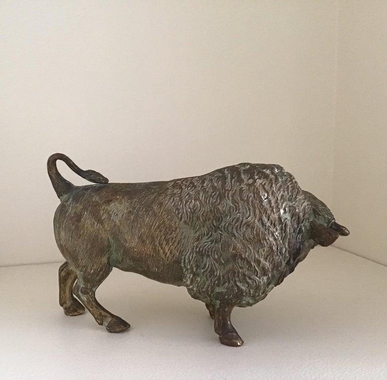 19th Century Cast Bronze Bull Sculpture circa 1890's For Sale