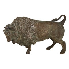 Cast Bronze Bull Sculpture