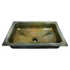 Cast Bronze Britannia Elite Custom Artisinal Sink, Rectangular Art Sink, New
