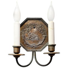 Cast Bronze E.F. Caldwell Two-Arm Sconce Pair