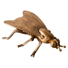Cast Bronze Fly Sculpture with Hidden Ashtray