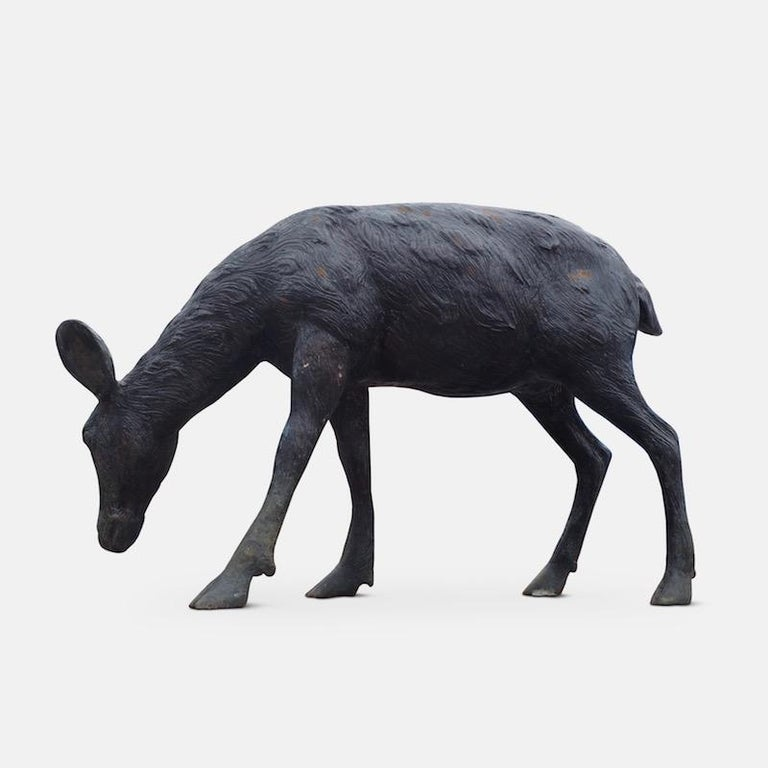 Cast Bronze Grazing Fawn For Sale 4