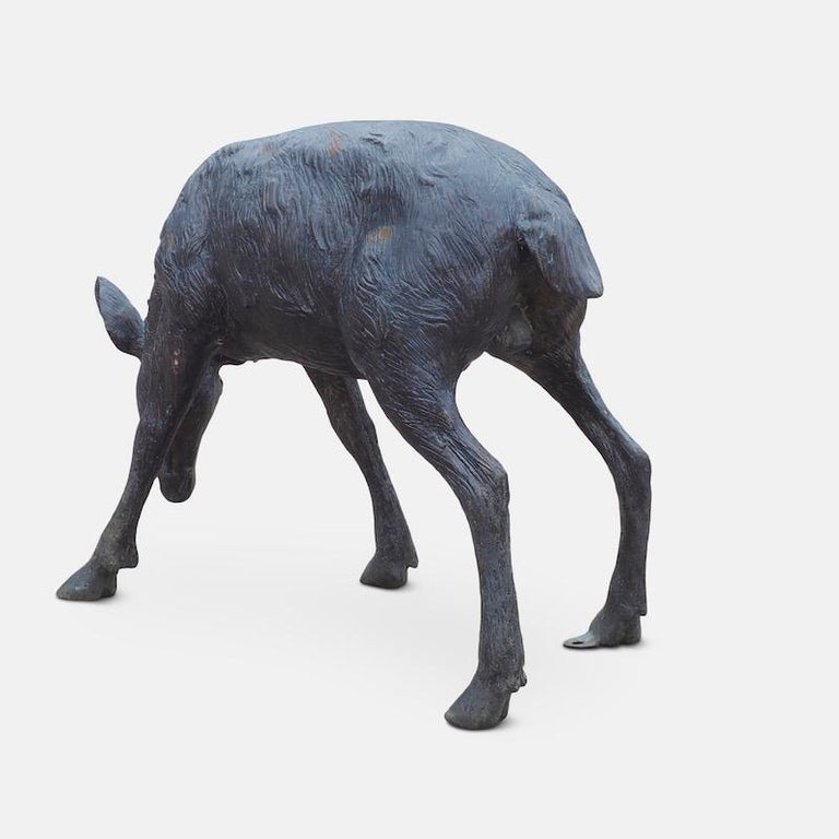 Cast Bronze Grazing Fawn For Sale 10