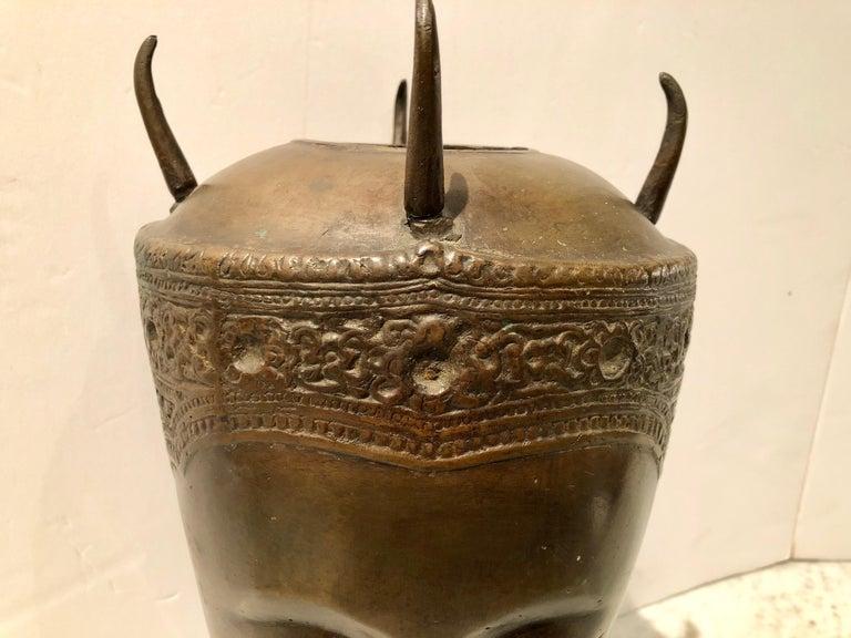 Cast Bronze Thai Deity Bust For Sale 3