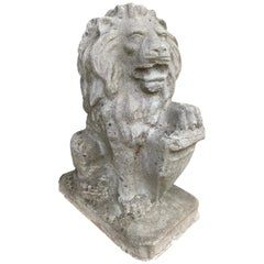 Cast Concrete Lion Statue