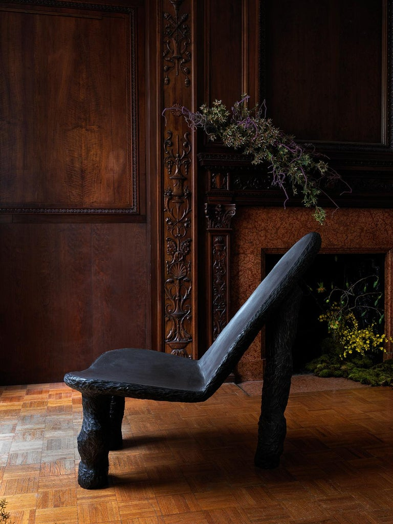 Cast Iron Sculptural Chair by Tellurico 'Aesthetics Follows Process' In New Condition For Sale In New York, NY