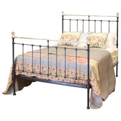 Cast Iron and Brass Bed in Black, MD84