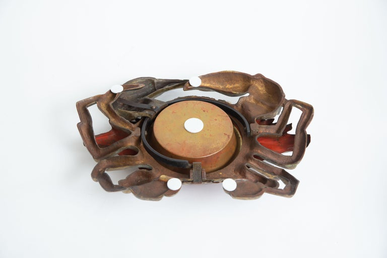 Cast Iron and Brass Crab Box For Sale 2