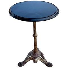Cast Iron and Ebonized Wood Pub Table