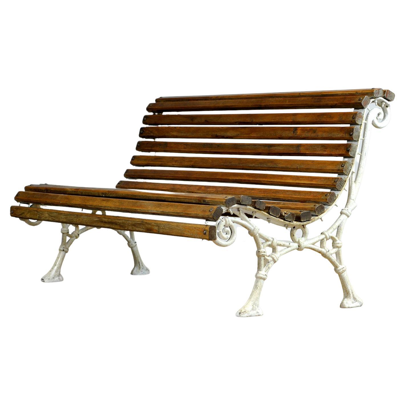 Cast Iron and Pine Garden Bench, 1920's