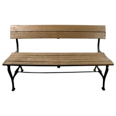 Cast Iron and Wood Park Bench