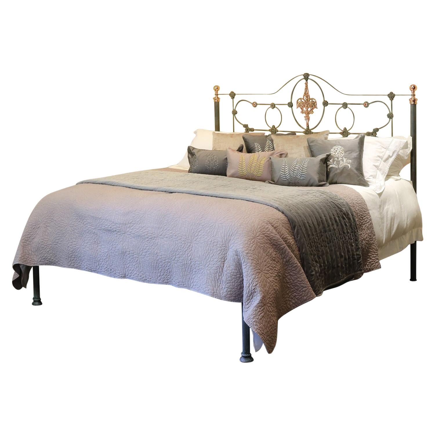 Cast Iron Antique Bed with Copper MSK68