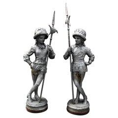Cast Iron Antique Statues, 19th Century