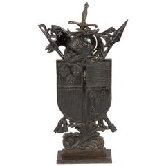 Cast Iron Armorial Shield Fire Place Guard