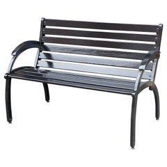 Cast Iron Art Deco Bench