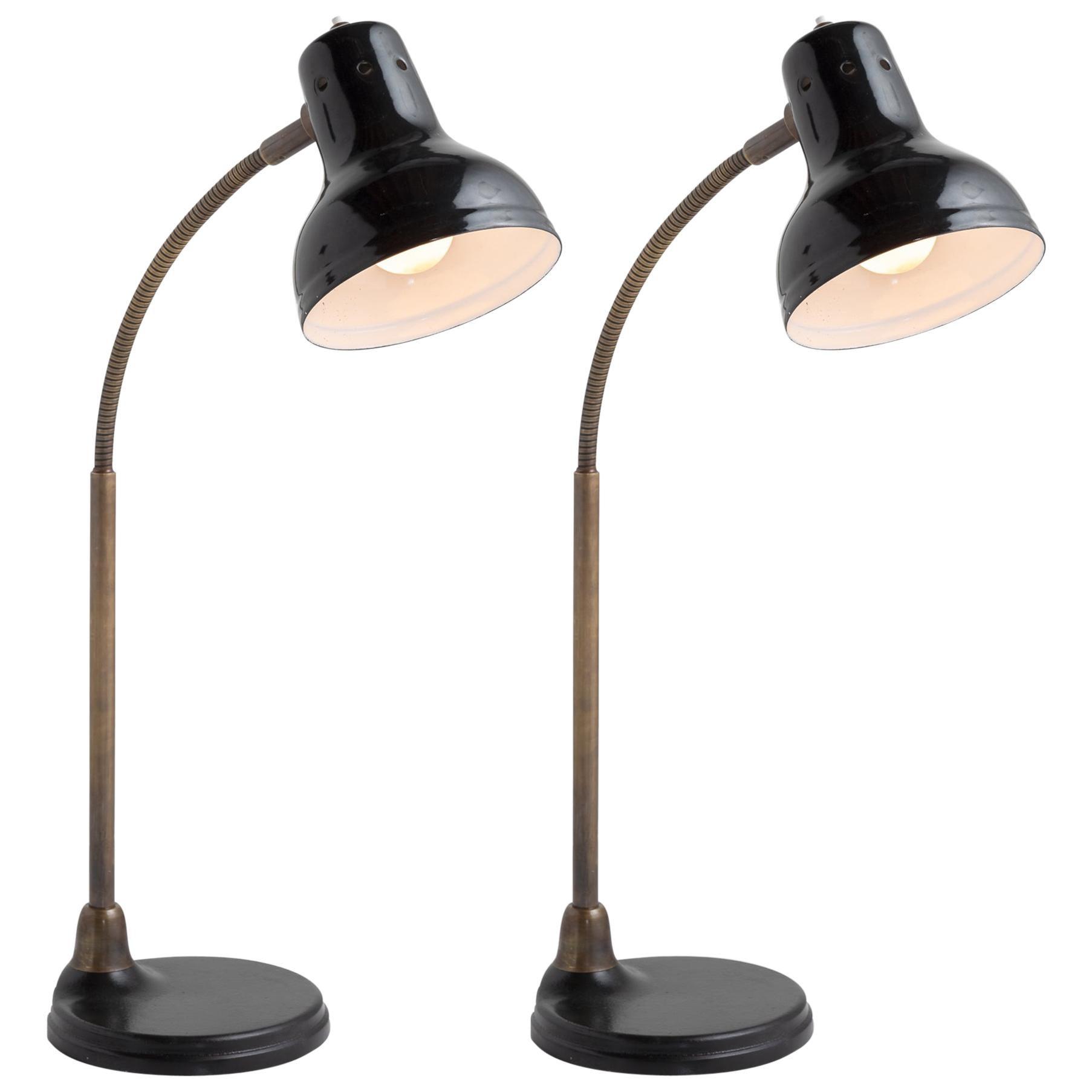Cast Iron Base Table Lamp, Italy, 21st Century