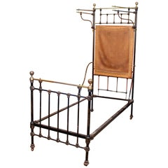 Cast Iron Bed Frame Brass Victorian 19th Century Bedframe
