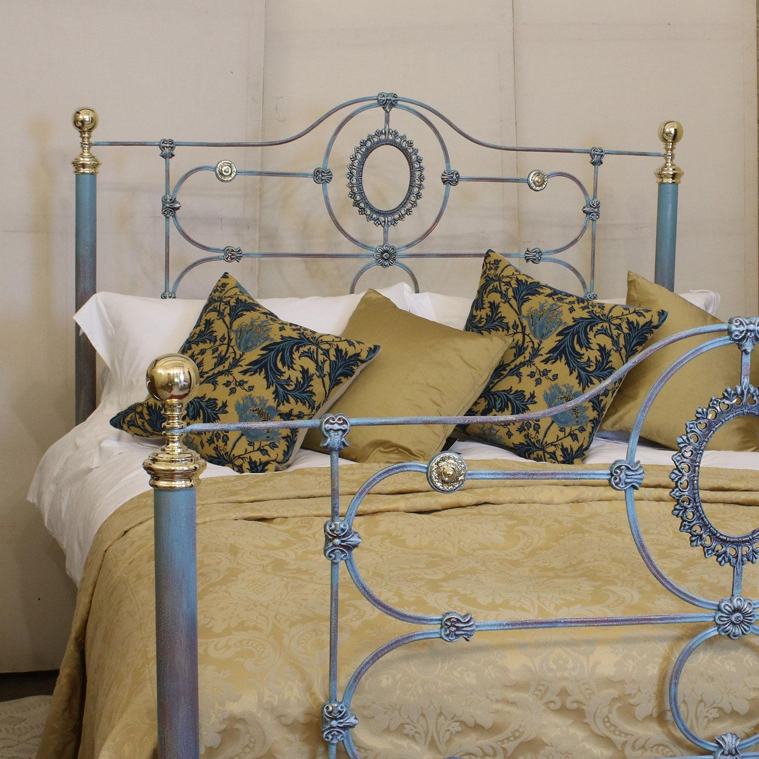 Cast Iron Bed In Blue Verdigris Mk154 At 1stdibs