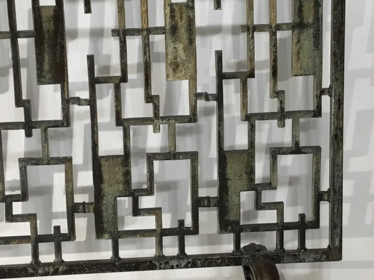 Cast Iron Cityscape Fireplace Screen For Sale 6