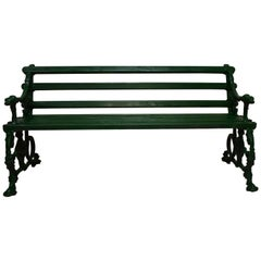 "Cast Iron ""Coalbrookdale"" Dog and Serpent Garden Bench"