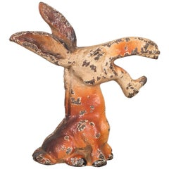 Cast Iron Donkey Bottle Opener by Hubley, circa 1910-1940