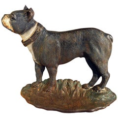 Cast Iron Doorstop in the Form of a Boston Terrier Known as Dandy, circa 1920