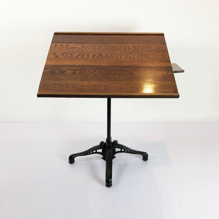 American Cast Iron Drafting Table by A. Hoffman Co. 1910 Rochester, NY For Sale