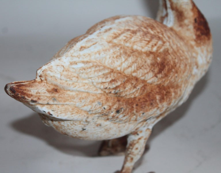 Cast Iron Duck, Early 20th Century In Distressed Condition For Sale In Los Angeles, CA