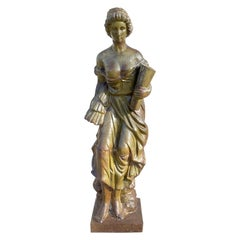 "Cast Iron Figural Statue of ""Demeter"" Goddess of Harvest, Italy, circa 1880"
