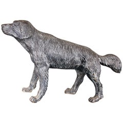 Cast Iron Figure of a Shaggy Dog, after the Antique
