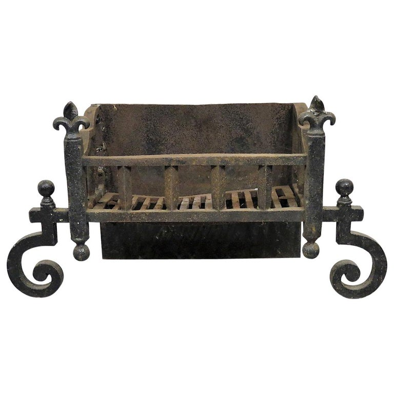 Cast Iron Fireplace Grate Box For Sale At 1stdibs