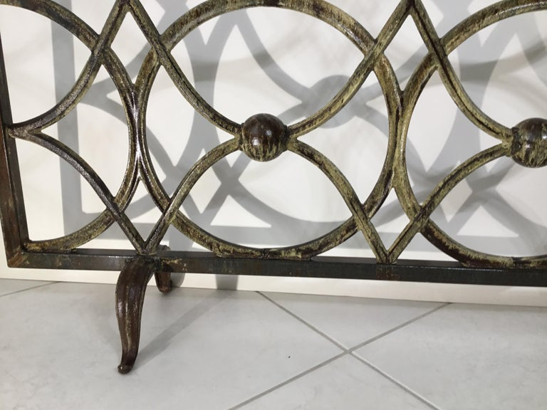 Cast Iron Fireplace Screen For Sale 6