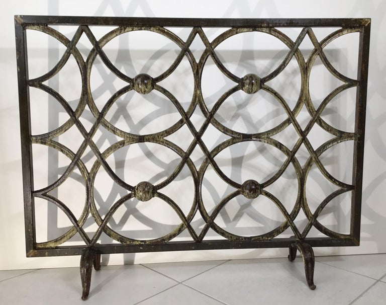 Cast Iron Fireplace Screen For Sale 8