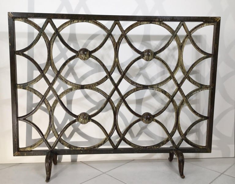 Cast Iron Fireplace Screen For Sale 9