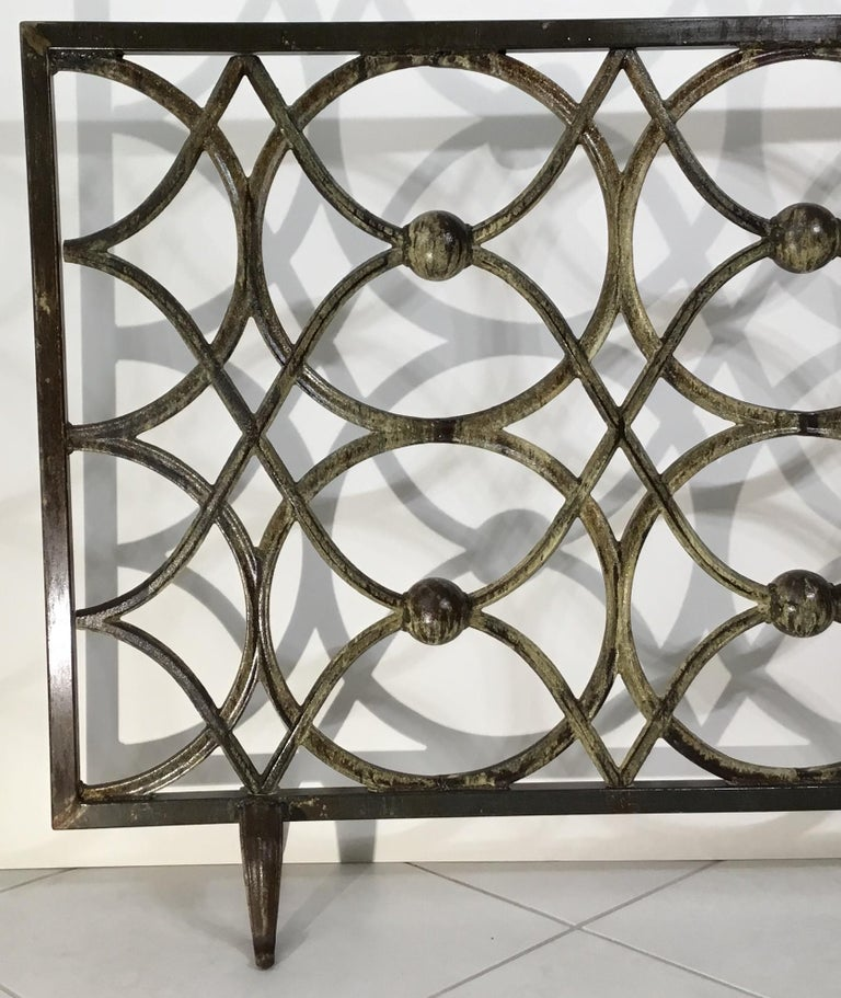 Cast Iron Fireplace Screen For Sale 1
