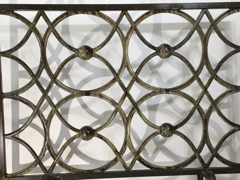 Cast Iron Fireplace Screen For Sale 2