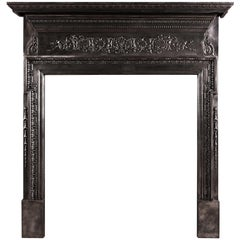 Cast Iron Fireplace with Filigree Frieze