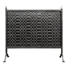 Cast Iron Firescreen in the Gothic Manner