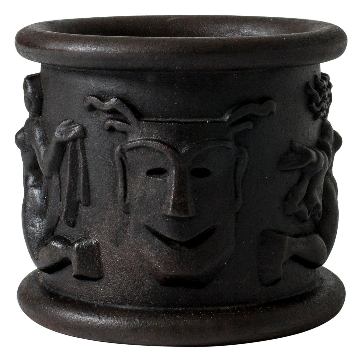 Cast Iron Flower Pot Model #1 by Anna Petrus for Näfveqvarns Bruk, Sweden, 1920s