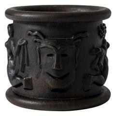 Cast Iron Flower Pot Model #1 by Anna Petrus for Näfveqvarns Bruk, Sweden, 1920s