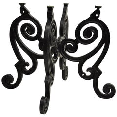 "Cast Iron French Pastry Style Scrolling ""Butterfly"" Dining Table Pedestal Base"