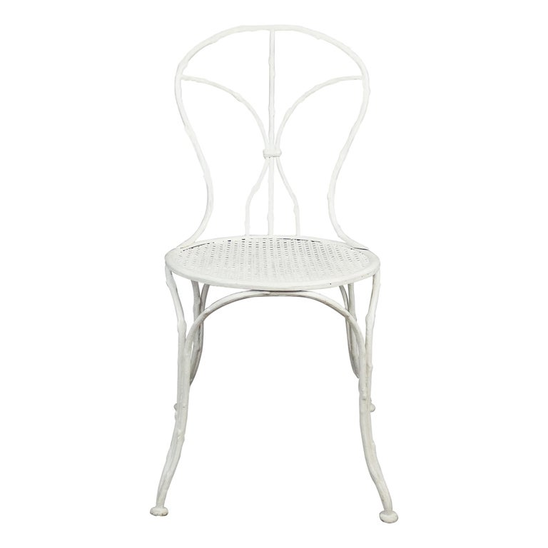"Cast Iron Garden Chair by ""Les Fonderies Du Nord"" For Sale"