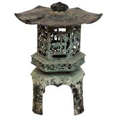 Cast Iron Garden Pagoda Candleholder