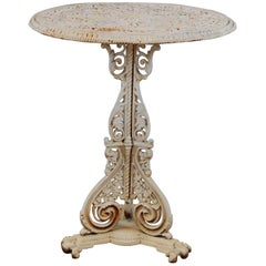 Cast Iron Garden Table Attributed to Coalbrookdale