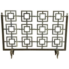 Cast Iron Geometric Fireplace Screen