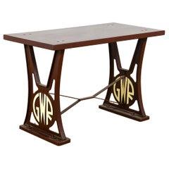 Cast Iron GWR Garden Table, 20th Century