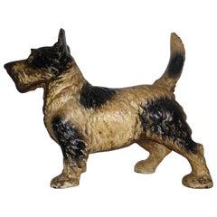 Cast Iron Hubley Scottish Terrier Door Stop
